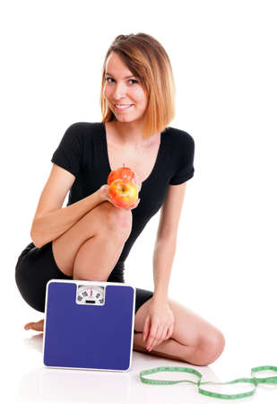 Portrait of young and healthy woman as dieting concept Stock Photo - 14063859