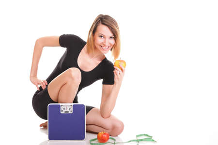 Portrait of young and healthy woman as dieting concept Stock Photo - 15570803