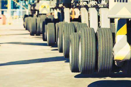 dozer: heavy vehicle big wheels of the building dozer or other machinery