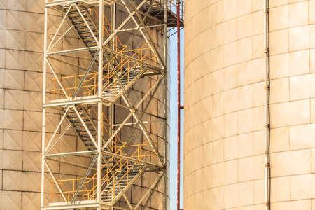 silo: Silo in harbour. Stock Photo