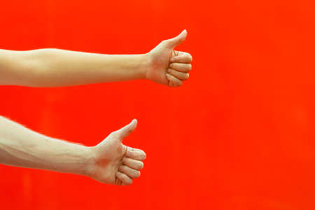 thumbs up: Two hands thumbs up.
