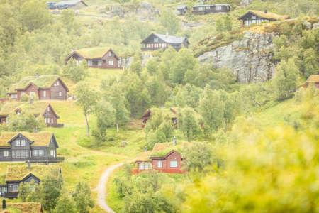 Suleskard Fjellsenter cabines dans les montagnes Sirdal Municipality, Norvège