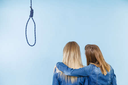 Woman trying to help her best friend with suicidal thoughts. Friendship and depression concept. Stock Photo - 103019407