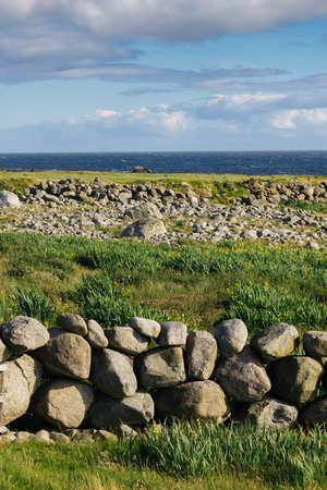 National tourist county route road 44 Jaeren, sothern Norway. Coastal landscape in summer Reklamní fotografie