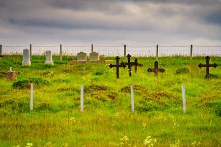 Old cemetery graveyard on Andoya, Norway Zdjęcie Seryjne