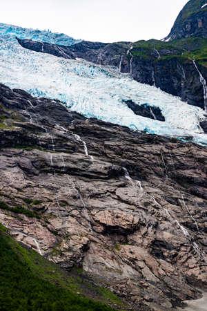 Boyabreen Glacier in Fjaerland area in Sogndal Municipality in Sogn og Fjordane county, Norway. Mountains landscape