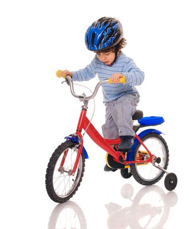 Ni�o montando en bicicleta Foto de archivo - 5190804