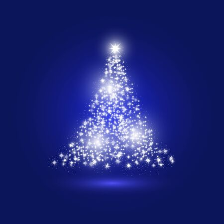 Christmas tree made with sparkles