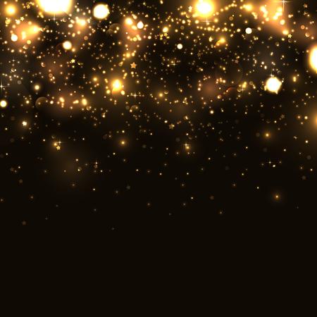 Błyszczące gwiazdki na czarnym tle Ilustracje wektorowe