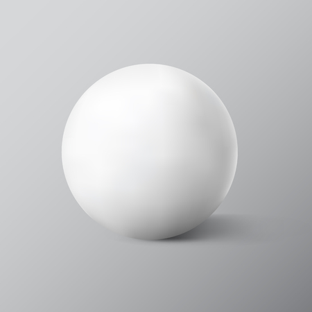sphere icon: White sphere on grey background. Vector illustration Illustration