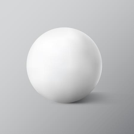 White sphere on grey background. Vector illustration Stock Illustratie