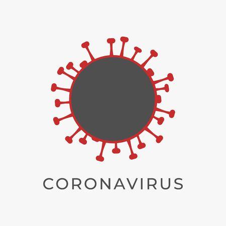 Coronavirus icon isolated on white background. Vector. 矢量图像
