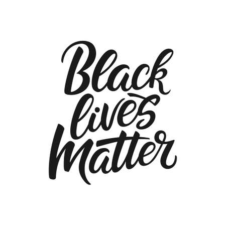 Black lives matter calligraphy. Vector.