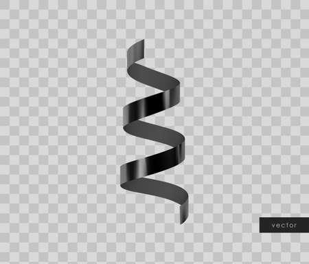 3d glossy realistic black serpentine. Vector. Illusztráció