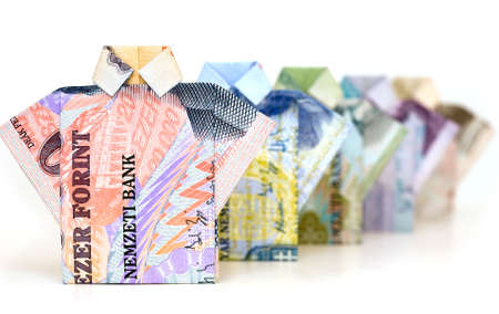 Money concept from paper money. Stock Photo