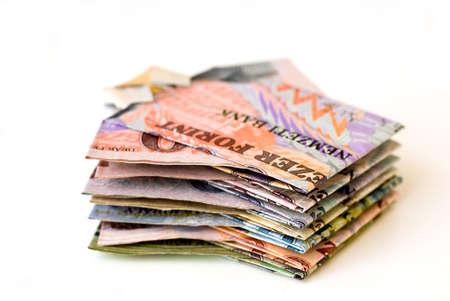 Geld-Konzept von ungarischen Papiergeld  Standard-Bild