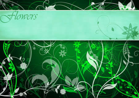 Green floral frame Stock Photo - 5883313