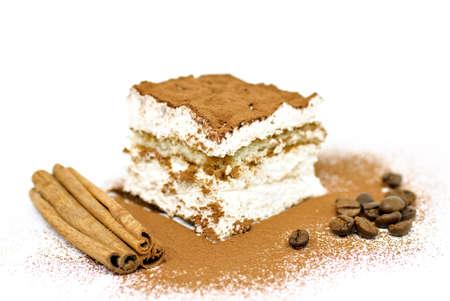 Homemade tiramisu cake photo