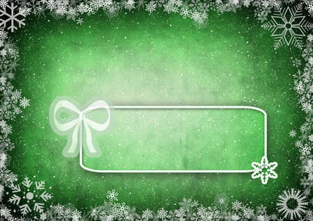 Frame from snowflakes with space for text Stock Photo - 6102650