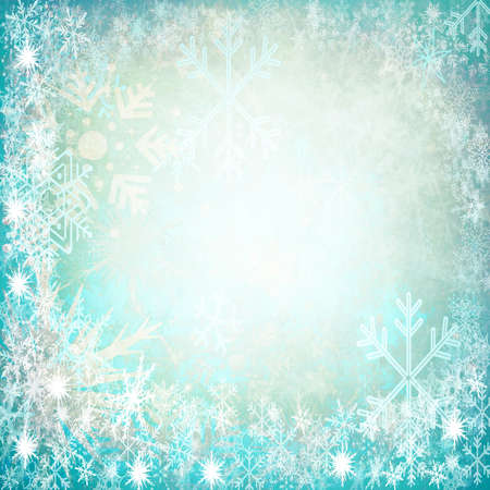 Frame from snowflakes with space for text