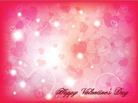 st valentines: Valentines day background with hearts Illustration