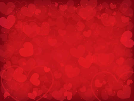 love background: Valentines day background with hearts Illustration
