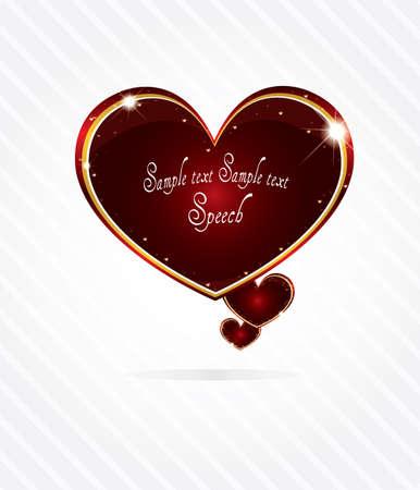 Elegant glossy heart shape speech bubble Stock Vector - 11871929
