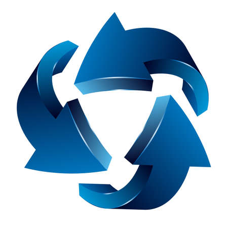 distorted: Recycle arrows, recycle symbol