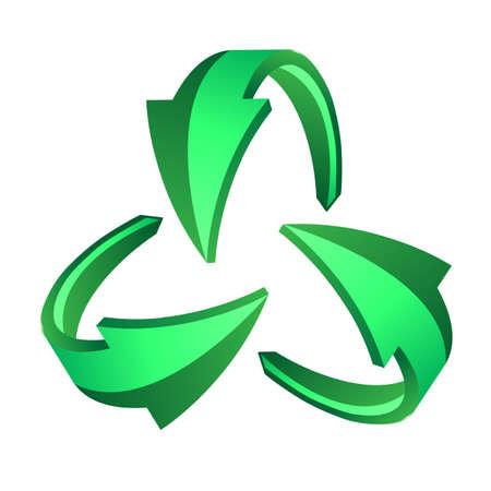 Recycle arrows, recycle symbol Stock Vector - 12151217