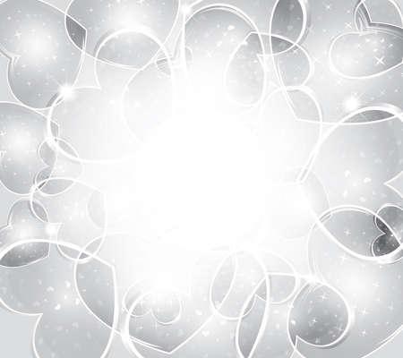 Valentinstag Hintergrund - Elegantes Silber Hintergrund von Herzen