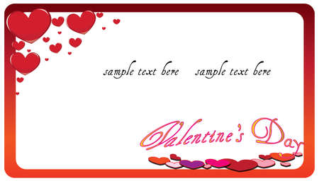 Valentines day card with space for your text Stock Vector - 12151220