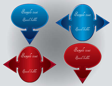 Speech bubbles with arrows Stock Vector - 12151230