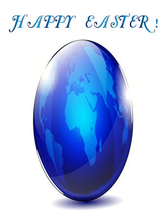 Abstract Easter egg from the Earth Stock Vector - 12924342
