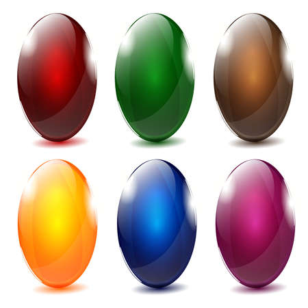Elegant glossy Easter eggs Vector