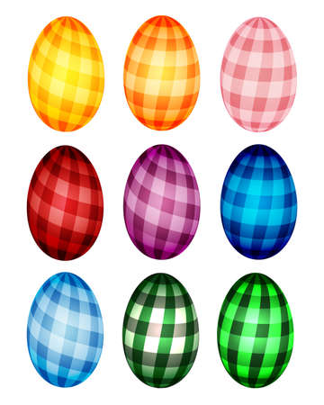 Checked Easter eggs Vector