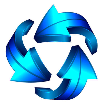 Recycle arrows. Recycle symbol Stock Vector - 12924320