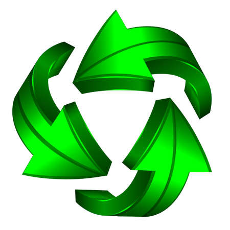 water recycling: Recycle arrows. Recycle symbol