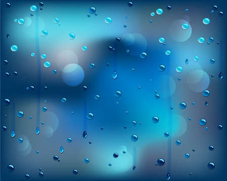 Blue water drops background Stock Vector - 12924357