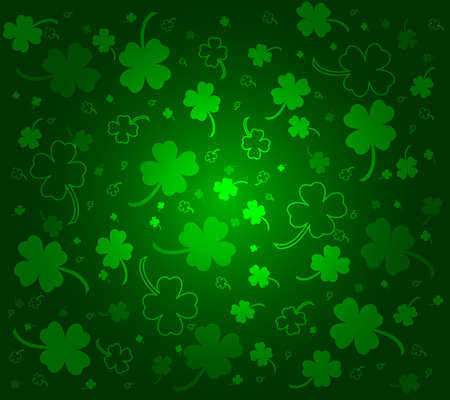 St. Patricks day background with clovers Stock Vector - 13895993