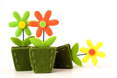 Blumen-Dekoration aus Filz