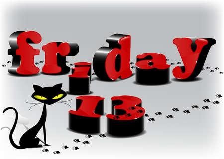 black friday: Background for friday 13 Illustration