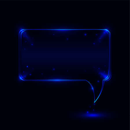 Elegant glossy speech bubble Stock Vector - 15011291