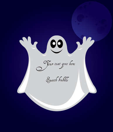 Speech bubble from ghost shape Vector