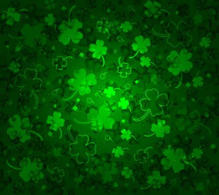 irland�s: St Patricks d�as de fondo con los tr�boles Vectores