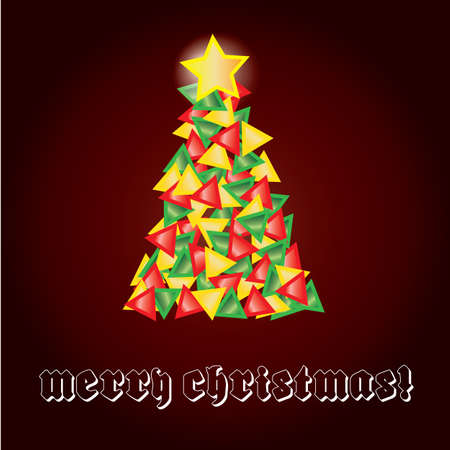 Christmas tree from triangles Vector