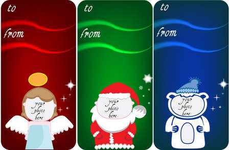 Christmas banner with place for your text and photo Vector