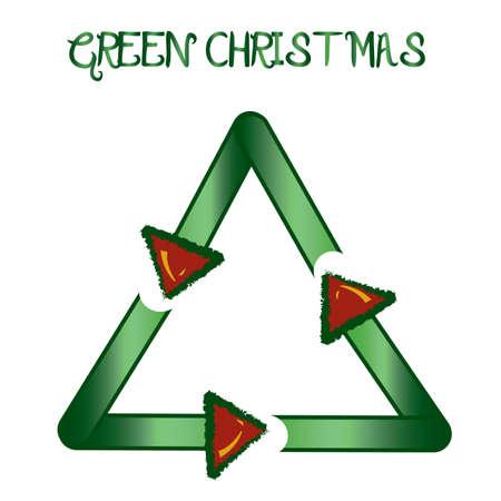 reciclable: Reciclaje de Navidad ilustración