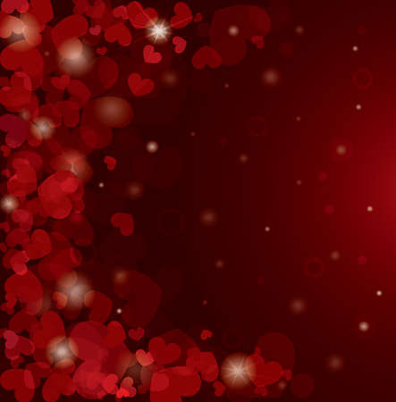 Valentine s day background with hearts Stock Vector - 15600228