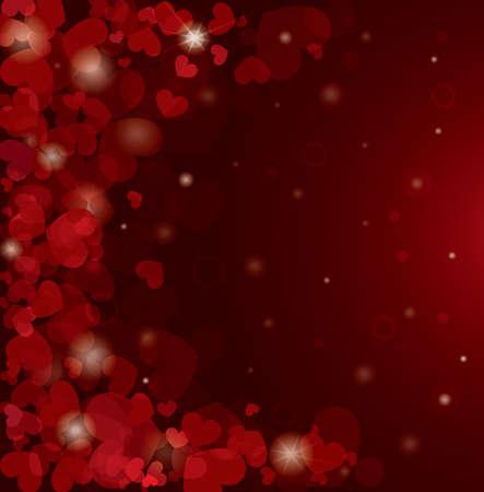 Valentine s Day Hintergrund mit Herzen