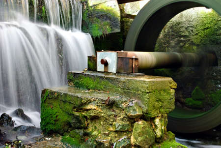 Part of water mill photo